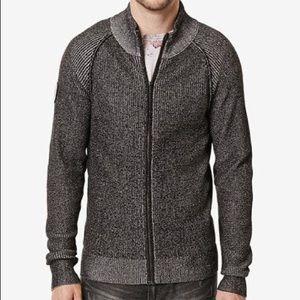 NAVY Men's Buffalo David Bitton Full Zip Sweater